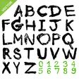 alphabet brush vector image vector image