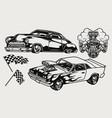 american custom cars vintage concept vector image vector image