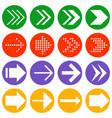 arrow icon collection vector image vector image