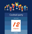 background with cocktails vector image vector image