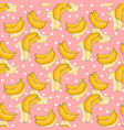 banana pattern with polka dots healthy vector image