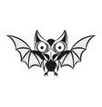 bat tattoo vector image vector image