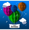 Birthday card with balloons in the style of flat vector image vector image