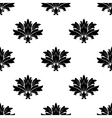 Black foliate motif in a seamless pattern vector image vector image