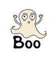boo ghost time halloween theme handdrawn vector image