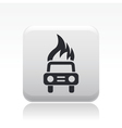 burning car icon vector image vector image