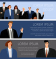 business people cartoon banners vector image vector image