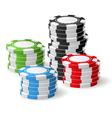 Casino chips stacks - gambling chips vector image vector image