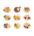 classic dinner dishes set dinner table top view vector image
