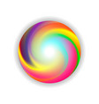 color ball on white background vector image vector image