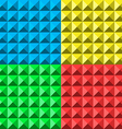 colors pyramid seamless pattern vector image