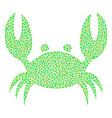 crab collage of dots vector image