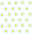daisy wallpaper on white background vector image vector image