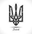 Decorative Ukrainian Trident vector image