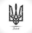 decorative ukrainian trident vector image