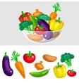 Eco food menu background Flat detailed vegetable