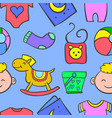 element baby doodles vector image vector image