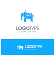 elephant animal blue logo vector image vector image
