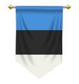estonia pennant vector image vector image