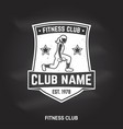 fitness centre badge for fitness centers vector image vector image