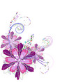 flower arrangement in lilac vector image vector image