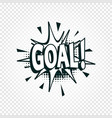 goal icon comics cloud with halftone shadow goal vector image