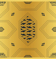 gold cords and gold chain hexagon seamless pattern vector image vector image