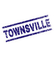 grunge textured townsville stamp seal vector image vector image
