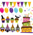 Halloween Party set vector image vector image