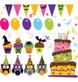 halloween party set vector image vector image
