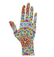 hand painting in ethnic ornaments vector image vector image