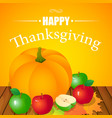 happy thanksgiving day concept background vector image vector image