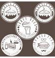hipster style food labels vintage set vector image vector image