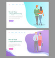 hot to build happy relationship people in love set vector image vector image