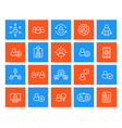 human resources and personnel management icons vector image