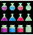 icon of transparent flasks vector image