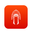 indian headdress icon digital red vector image vector image