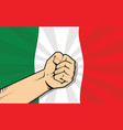 italy europe country fight protest symbol with vector image