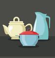 jug teapot and pot vector image