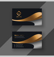 luxury golden premium business card template vector image vector image
