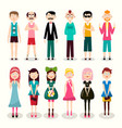 men and women set man and woman wector icons vector image