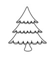 merry christmas pine tree vector image vector image