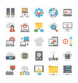 network and cloud computing flat icon vector image vector image