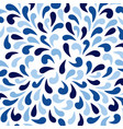 ornamental pattern with azure blue paint splashes vector image