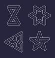 paradox impossible geometry symbols vector image vector image