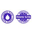 premium water grunge stamp seals vector image vector image