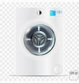 realistic modern washing machine isolated on the vector image
