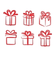 red gift icon vector image vector image
