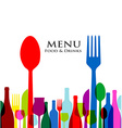 retro cover restaurant menu designs on white vector image