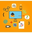 Set of flat icons for web concept vector image vector image